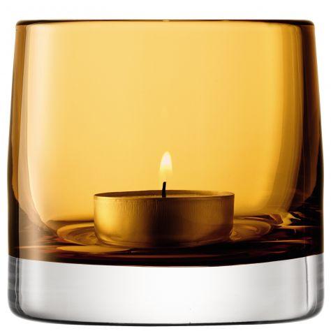 LSA International Light Colour T-Light Holder - Amber