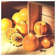 Naked Flame Candles Reed Diffuser - Orange & Cinnamon