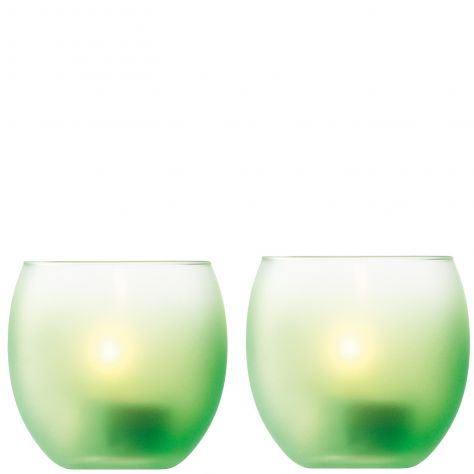 LSA International Haze Collection - Apple Green T-Light Holders