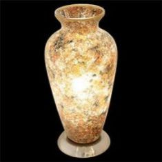 Classic Vase Mosaic Glass Electric Lamp - Gold / Yellow