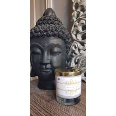 Paradise Beach Medium Glass Candle by Naked Flame Candles