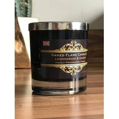 Jasmine & Patchouli Medium Glass Candle by Naked Flame Candles