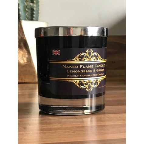 Sandalwood & Black Pepper Medium Glass Candle by Naked Flame Candles