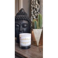 Fresh Linen Medium Glass Candle by Naked Flame Candles