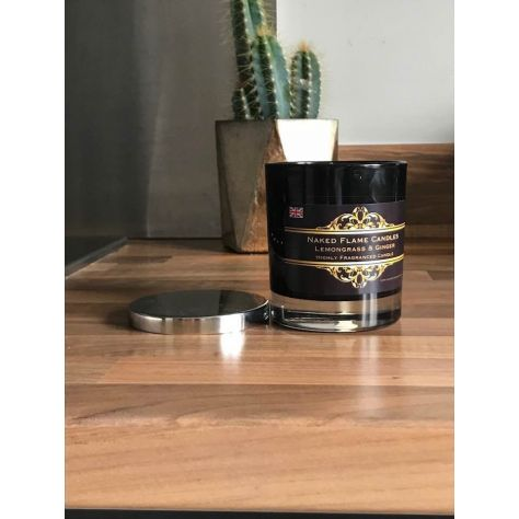 Frankincense & Myrrh Medium Glass Candle by Naked Flame Candles