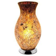 Classic Vase Mosaic Glass Electric Lamp - Yellow / Gold