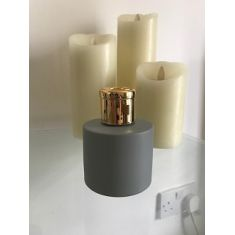 Naked Flame Candles 100ml Round Glass Diffuser Bottle - Grey