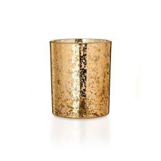 Naked Flame Candles Crackle Glass Candle - Gold