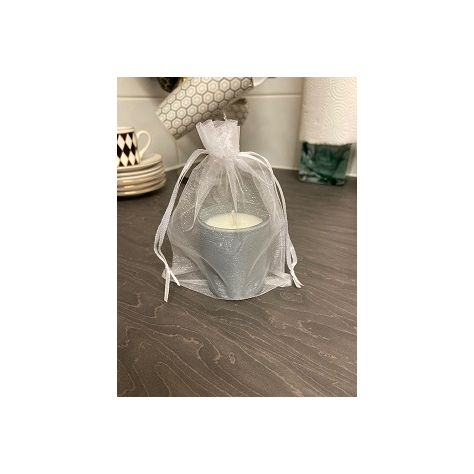 Naked Flame Candles Votive Glass Candle - Grey Matt