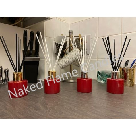 Naked Flame Candles Reed Diffuser - Red Glass