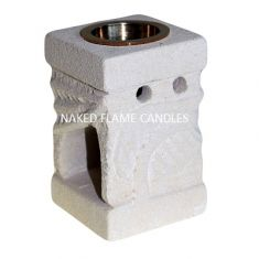 Stone Wax Melt / Oil Burner - Carved Leaf