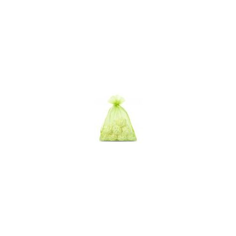 Naked Flame Candles Medium Organza Bag - Green