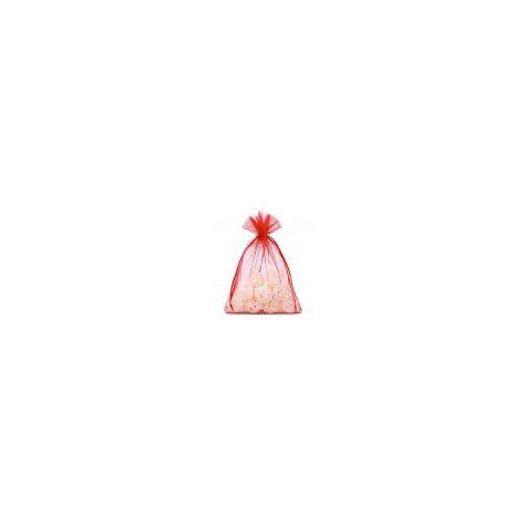 Naked Flame Candles Medium Organza Bag - Red