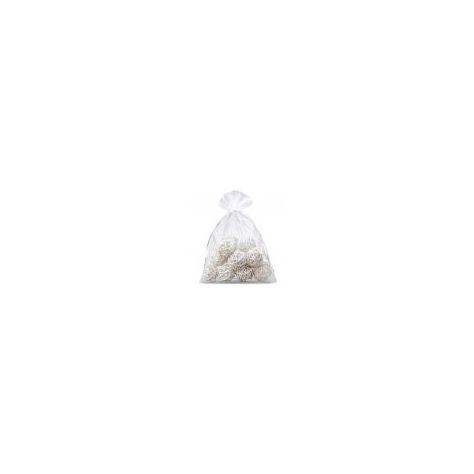 Naked Flame Candles Medium Organza Bag - White