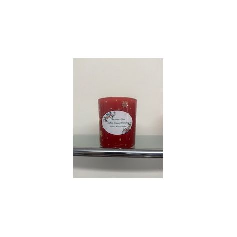 NFC Medium Jar Candle - Red Glass with Silver Stars