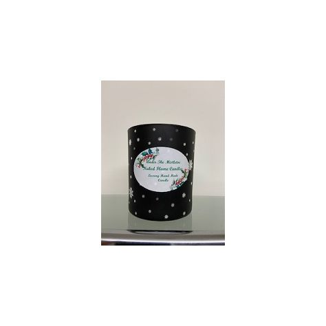 NFC Medium Jar Candle - Black Glass with Silver Stars
