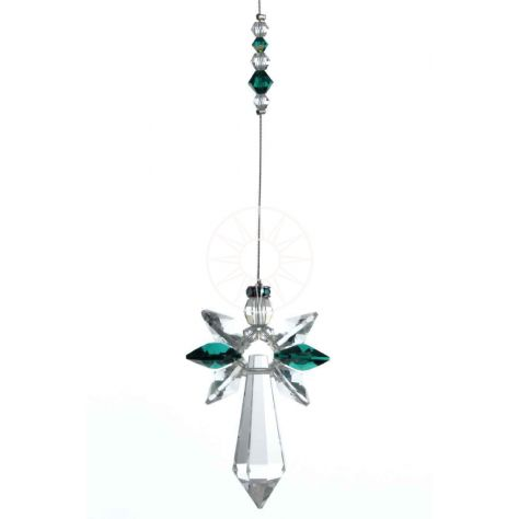 Wild Things Crystal Glass Guardian Angel - Emerald