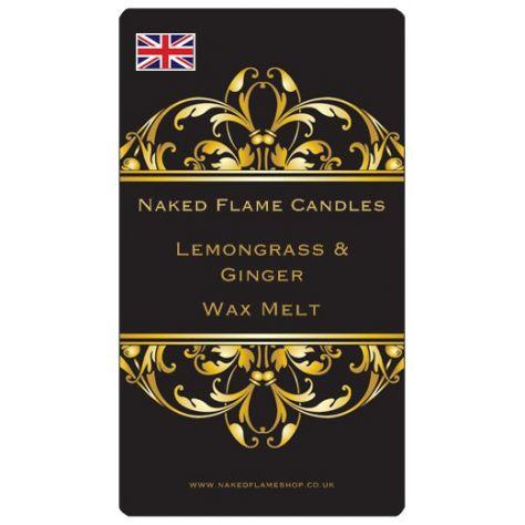 Naked Flame Candles Wax Melt Pack - Lemongrass & Ginger