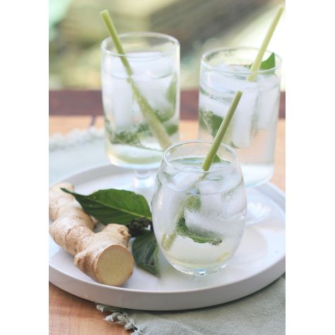 Naked Flame Candles Reed Diffuser - Lemongrass & Ginger