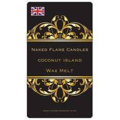 Naked Flame Candles Wax Melt Pack - Coconut Island