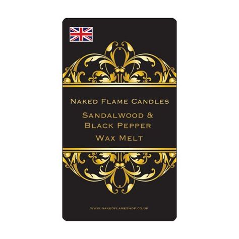 Naked Flame Candles Wax Melt Pack - Sandalwood & Black Pepper