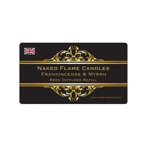 Naked Flame Candles 250ml Reed Diffuser Refill - Frankincense & Myrrh