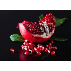 Pomegranate Noir Medium Glass Candle by Naked Flame Candles