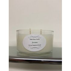 NFC 2 Wick Christmas Glass Candle - Clear
